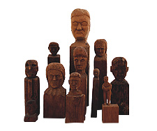 Artist's Collection of Carved Heads